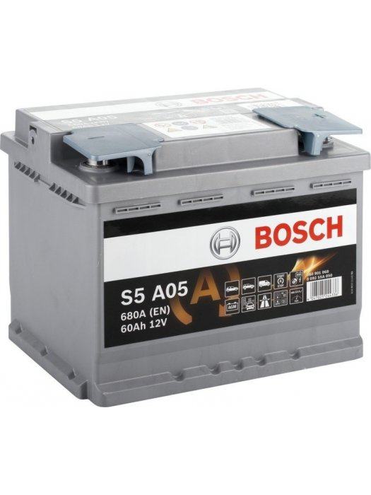 Car Battery Bosch AGM start-stop  S5A05 60ah 242x175x190