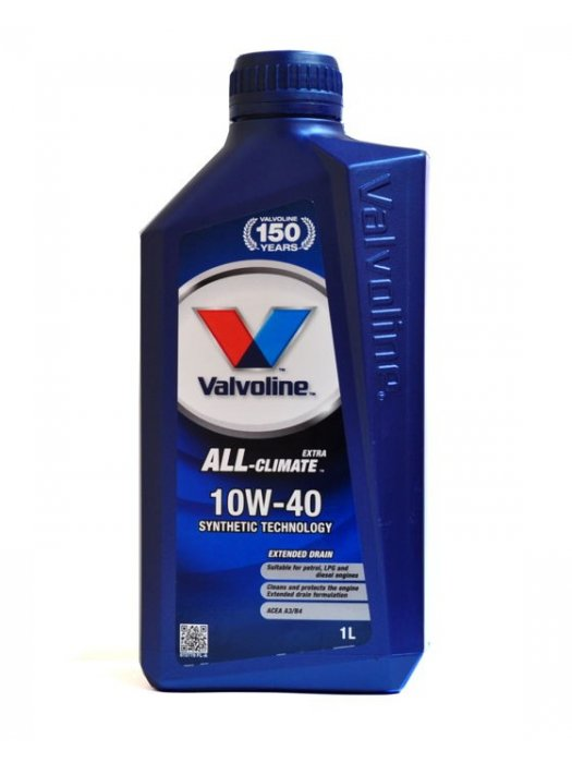 Car Oil Valvoline All Climate Extra 10w40 1L