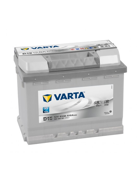 Car Battery Varta D15 silver dynamic 63ah