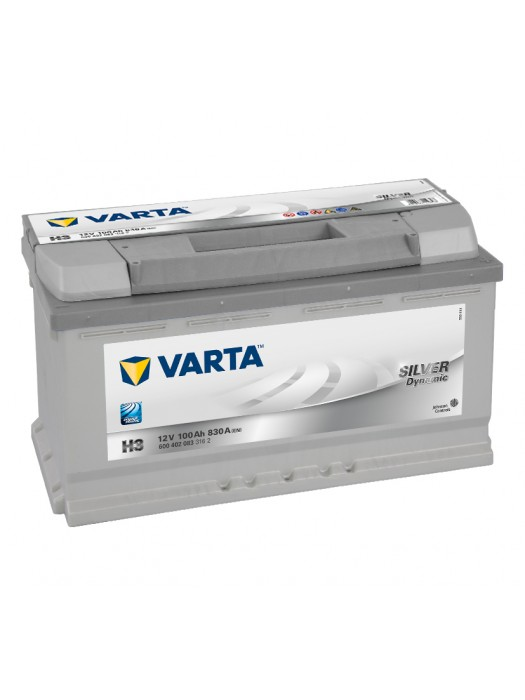 Car Battery Varta H3 silver dynamic 100ah